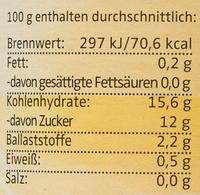 Bio Apfel-Bananenmark - Nutrition facts - de