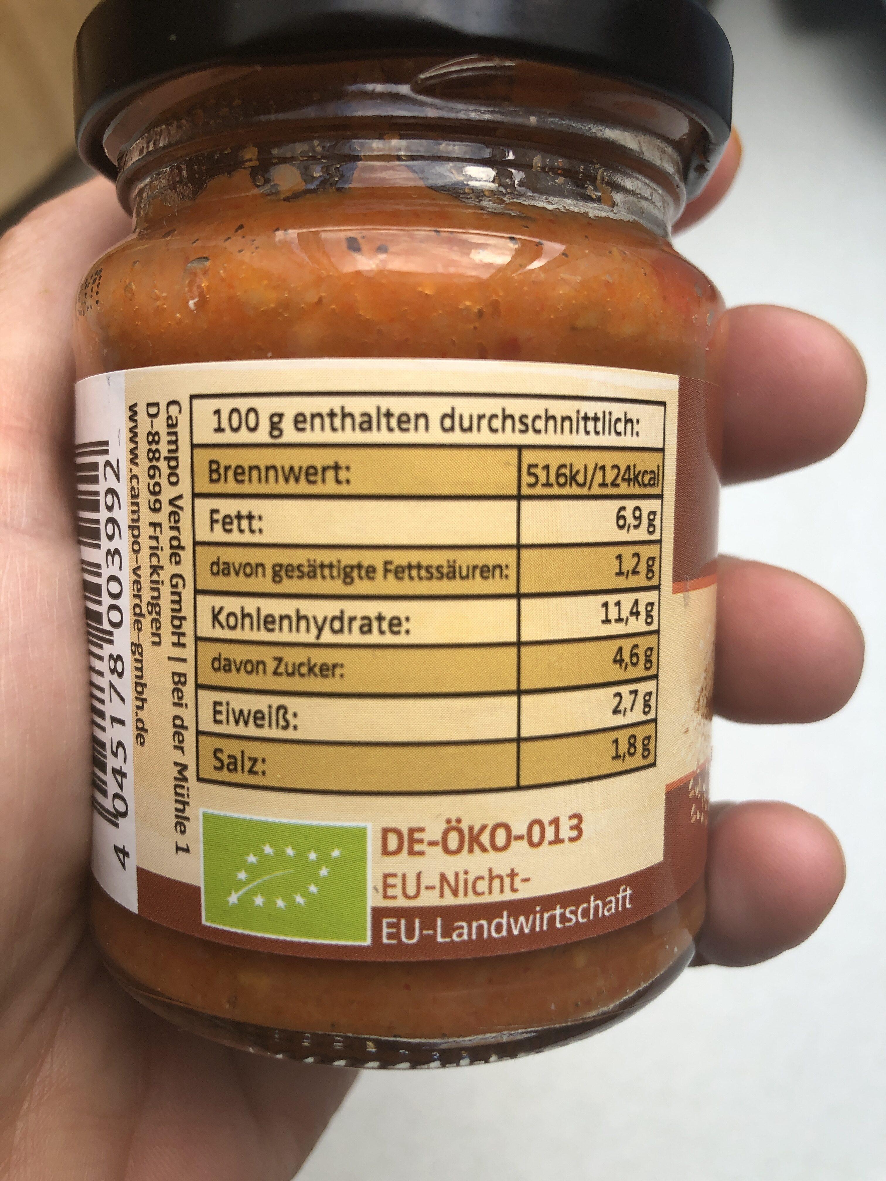 Brotaufstrich - Nutrition facts - fr