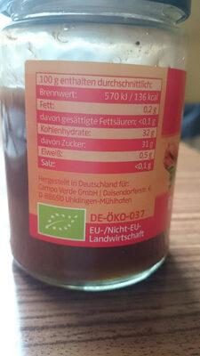 Erdbeer-Rhabarber Marmelade - Ingrédients