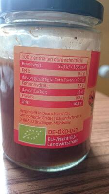Erdbeer-Rhabarber Marmelade - Informations nutritionnelles