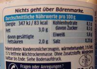 Bärenmarke Extra Leichter Traum 3% - Informations nutritionnelles - fr