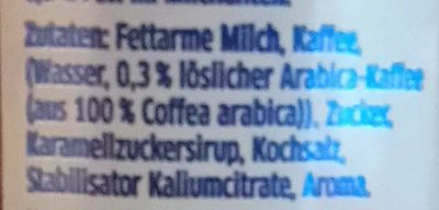 Der Eiskaffee - Inhaltsstoffe