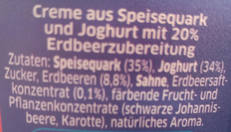 Quark-Joghurt Erdbeere - Zutaten - de