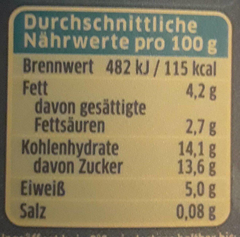 Quark-Joghurt Erdbeere - Nährwertangaben - de