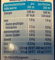 Die Frische Milch 3,8% Fett - 营养成分 - de