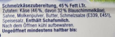 MILKANA mit Blauschimmel - Ingredients