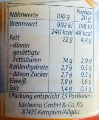 Bresso mit Meersalz - Nutrition facts