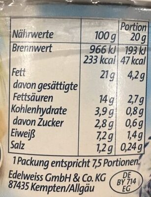 Bresso mit Meersalz - Nutrition facts - en