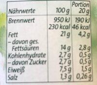 Frischkäse Feine Kräuter - Informations nutritionnelles - de