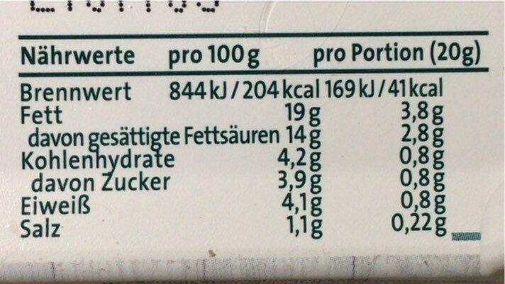 Brunch / feurige Tomate - Nutrition facts - en