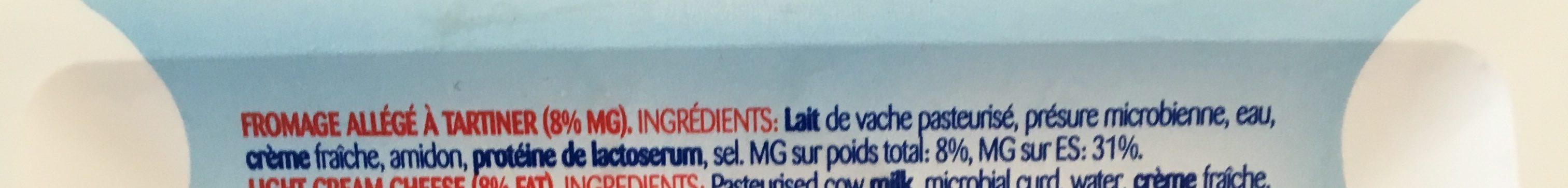 Cream Cheese Spread Light - Ingredients