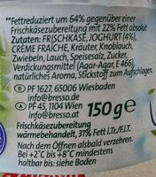 Légère feine Kräuter 8% fett - Ingredients