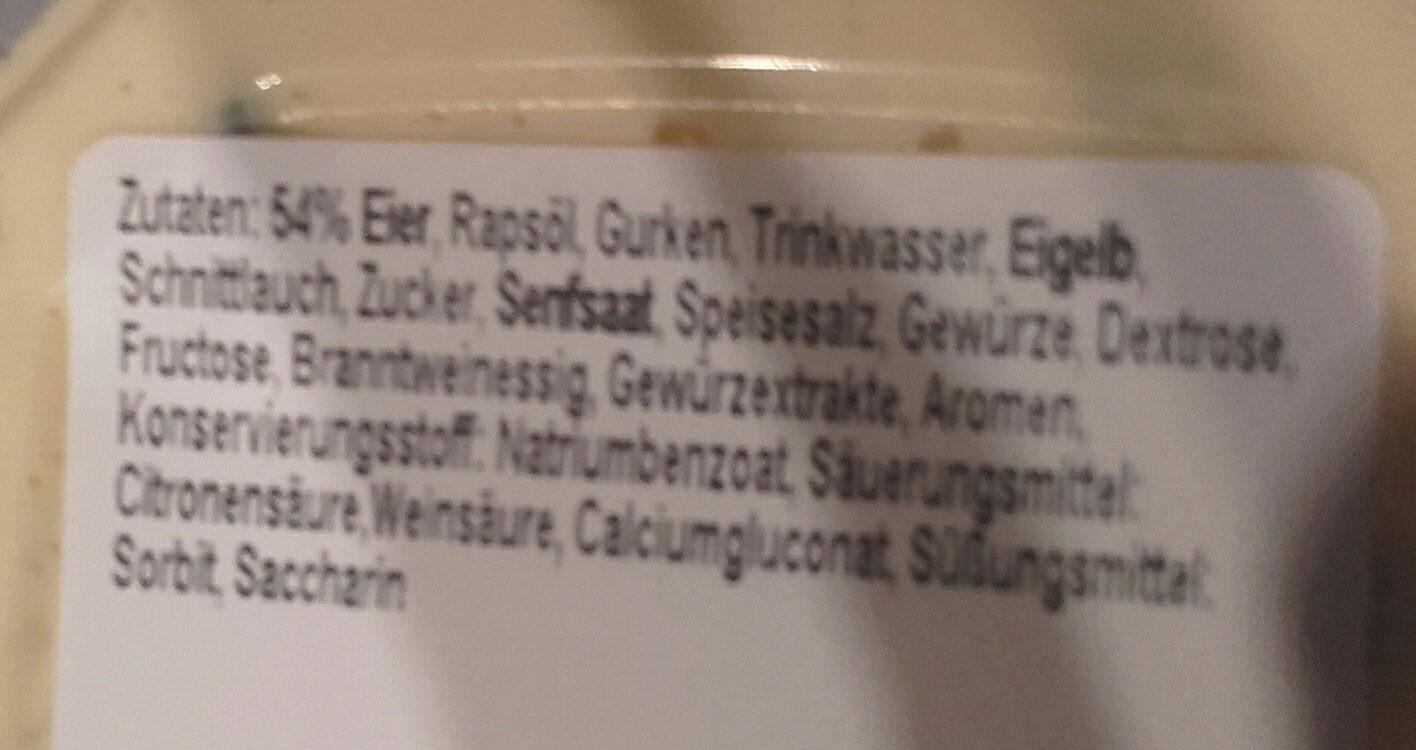 Wittenburger Eiersalat - Ingredienti - de