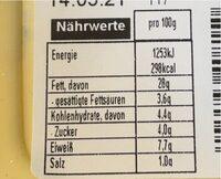 Wittenburger Eiersalat - Valori nutrizionali - de