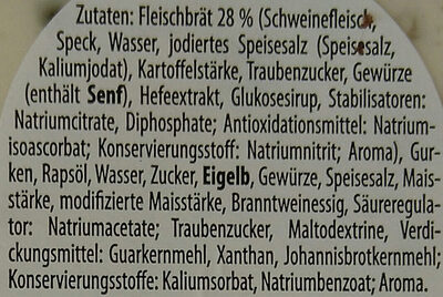 Fleischsalat - Ingredients