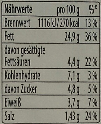 Fleischsalat - Nutrition facts