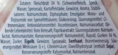 Brotaufstrich Fleischsalat - Ingrédients - de