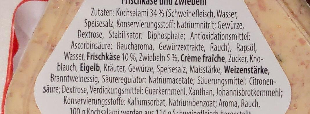 Koch-Salami Brotaufstrich - Ingrédients - de