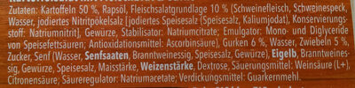 Kartoffelsalat sächsische Art - Ingredients - de