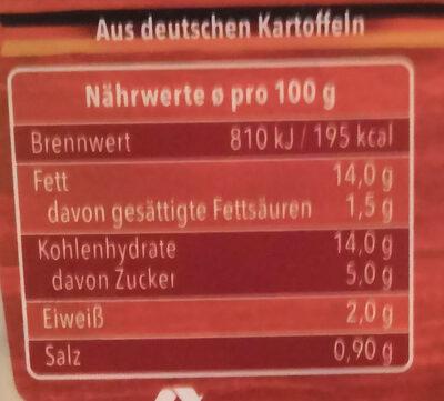 PELL Kartoffelsalat - Voedingswaarden - de
