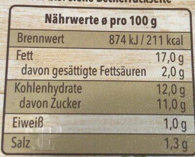 Colslaw Salat - Nutrition facts - de