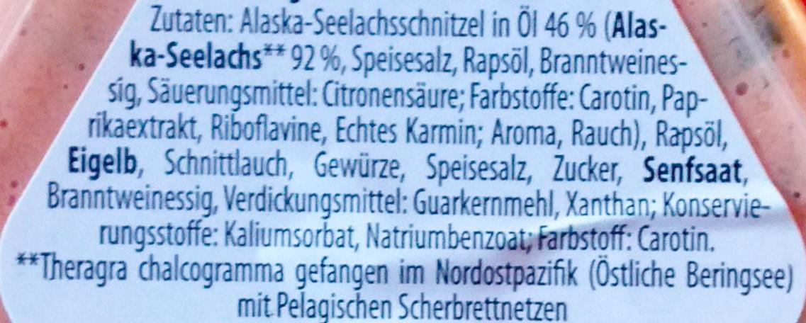 Alaska-Seelachs Brotaufstrich - Ingredients - de
