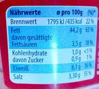 Alaska-Seelachs Brotaufstrich - Nutrition facts - de