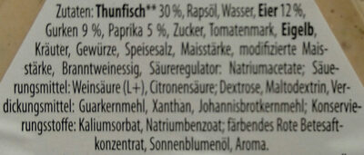 Brotaufstrich Thunfisch - Ingredients - de