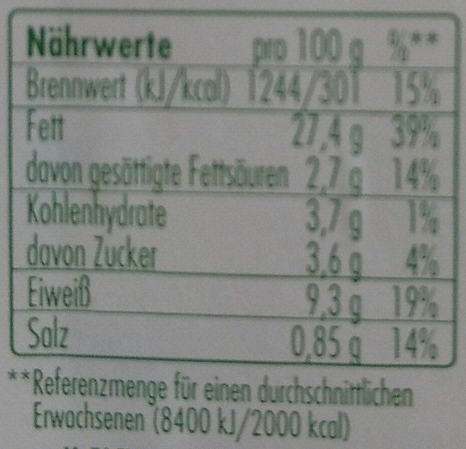 Bio-Eiersalat - Nutrition facts