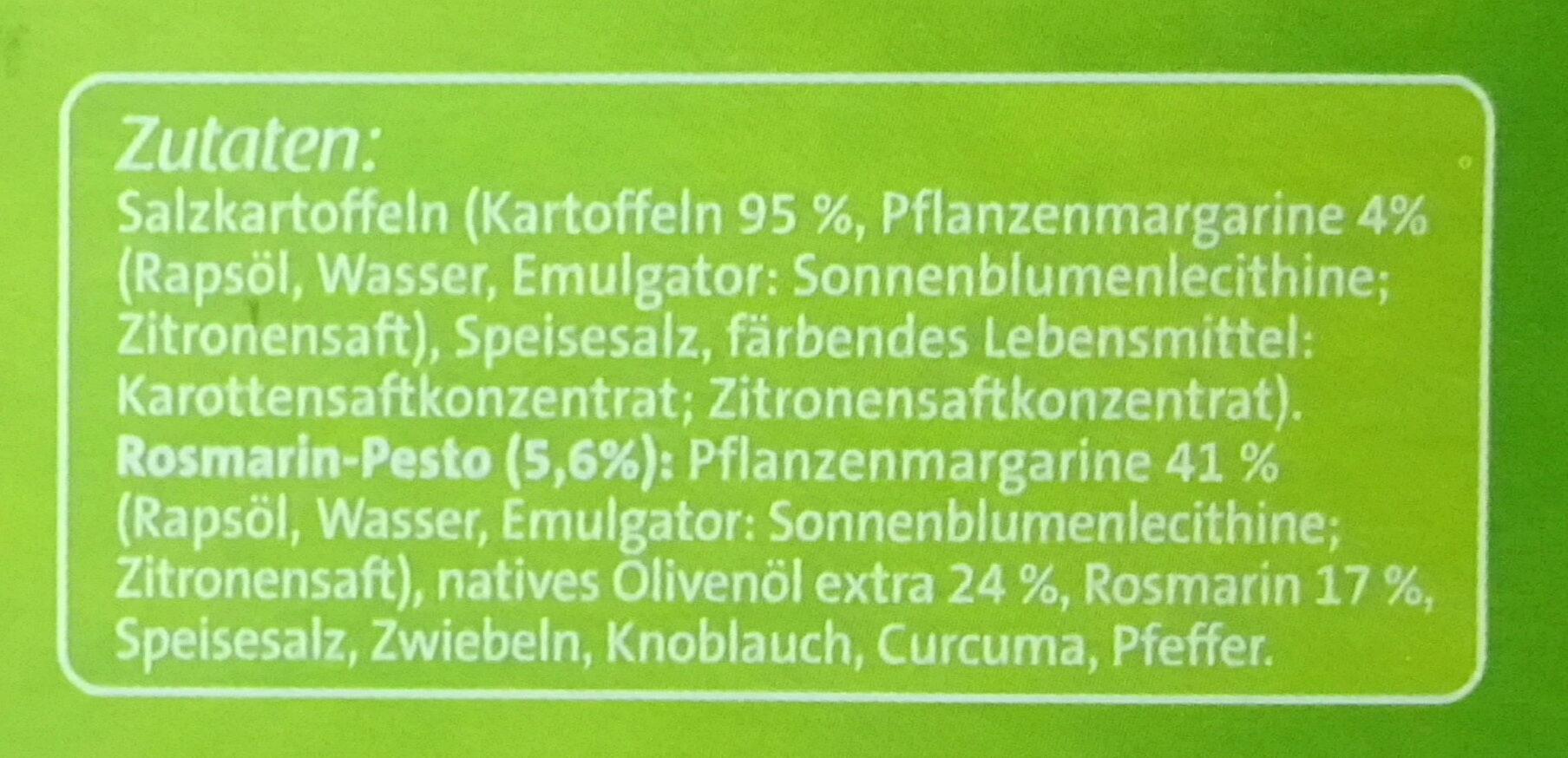Rosmarin-Kartoffeln - Ingrédients - de