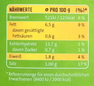 Rosmarin-Kartoffeln - Informations nutritionnelles - de