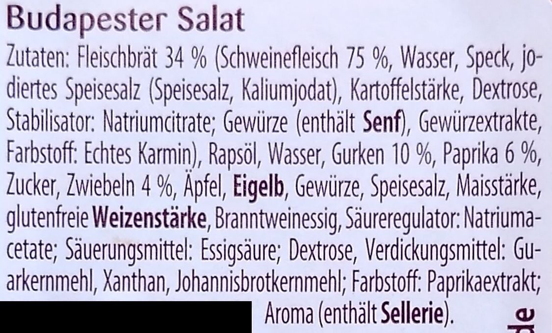 Budapester Salat - Ingredients - de