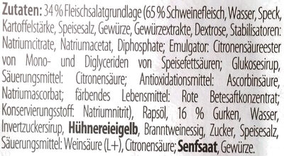 Feinster Fleischsalat - Ingredients - de