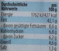 Feinster Fleischsalat - Nutrition facts - de