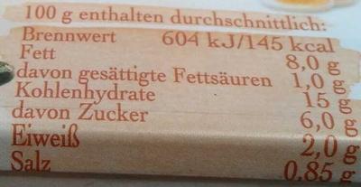 Delikatess Kartoffelsalat - Informations nutritionnelles - de