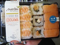 Edogawa, Sushi Box Matsu, (4 nigri saumo- 4 nigris crevette-2 california roll- 1 futomaki) - Product