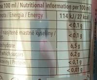 Mazagrande - Nutrition facts