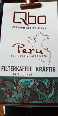 Qbo PREMIUM COFFEE BEANS, Filterkaffee kräftig - Product