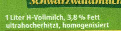 Haltbare Weidemilch - Ingrediënten - de