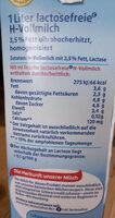 H-Vollmilch 3,5% Fett - Ingrediënten - de