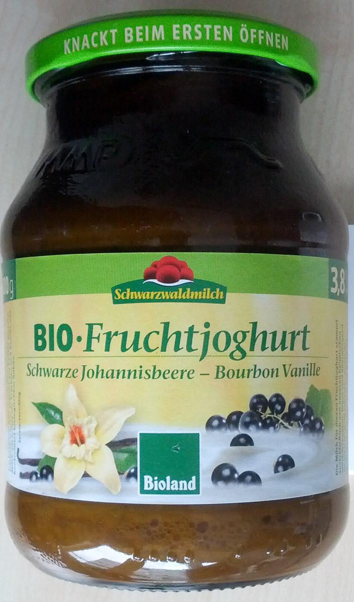 Bio Fruchtjoghurt Schwarze Johannisbeere - Bourbon Vanille - Produkt - de