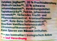Bio Fruchtjoghurt Schwarze Johannisbeere - Bourbon Vanille - Zutaten - de