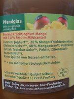 Bio Fruchtjoghurt Mango - Inhaltsstoffe
