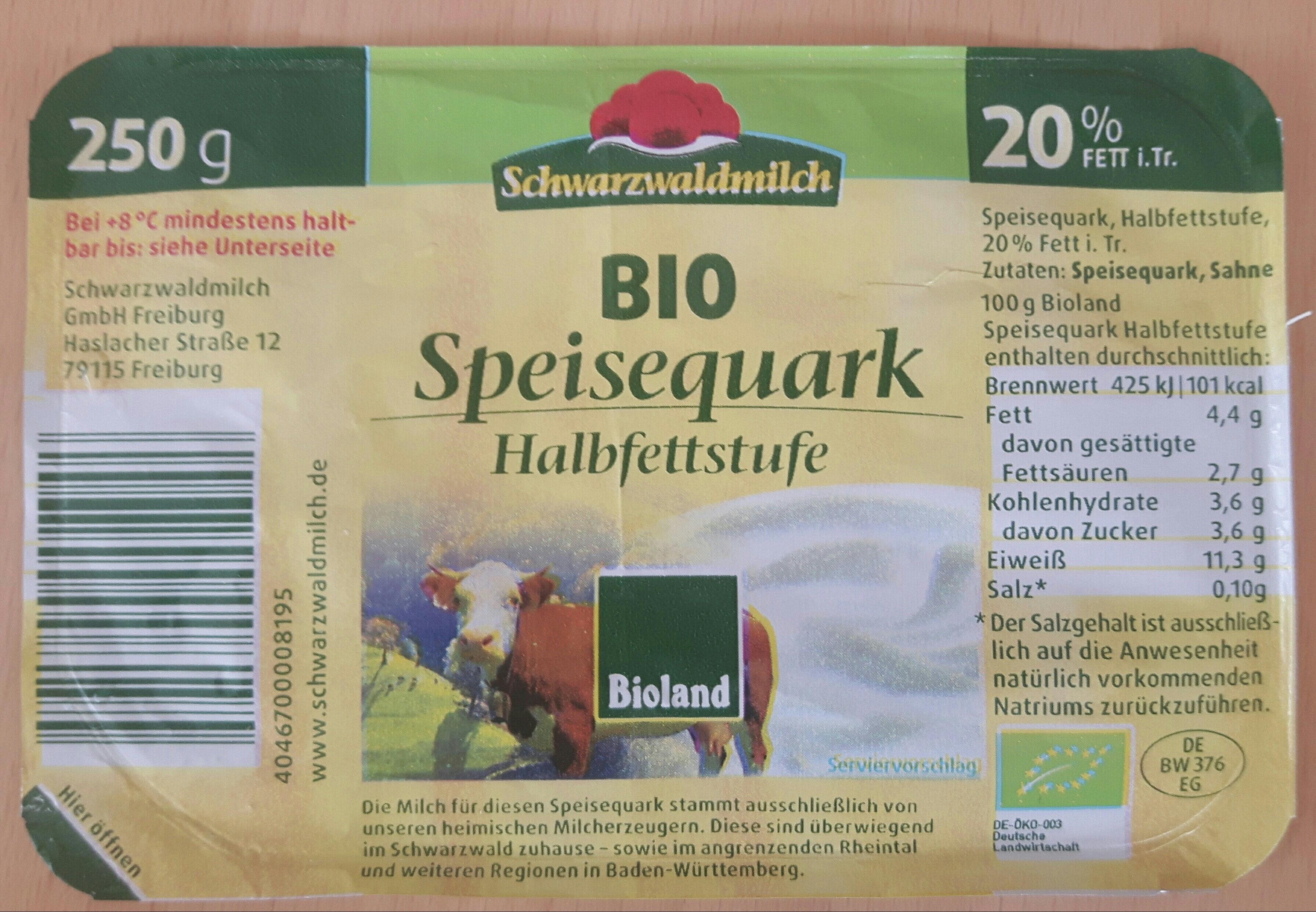Bio Speisequark Halbfettstufe - Produkt - de