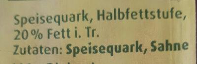 Bio Speisequark Halbfettstufe - Zutaten - de