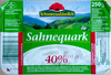 Sahnequark 40% Fett i. Tr. - Produkt