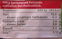 Sahnequark - Nährwertangaben - de
