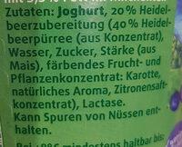 Schwarzwaldmilch  Kijo Heidelbeere - Zutaten - de