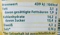 Bio Fruchtjoghurt Mango - Informations nutritionnelles - fr