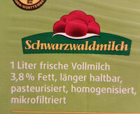 Frische Weidemilch - Ingrédients
